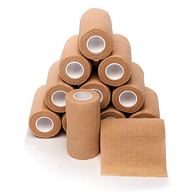 Brown Gauze Rolls - Case of 12 rolls / 6 inch wide by 5 yard long