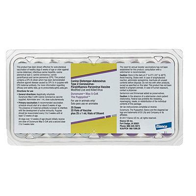 Duramune Max 5CVK - Elanco - 25 dose tray