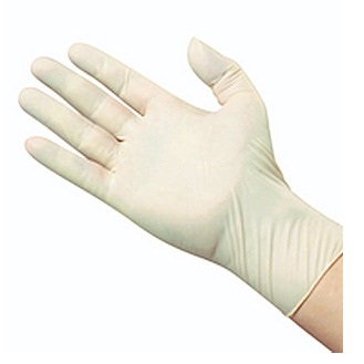 Latex Disposable Exam Gloves - Large Size