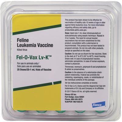 Fel-O-Vax Lv-K - Only 1 in stock