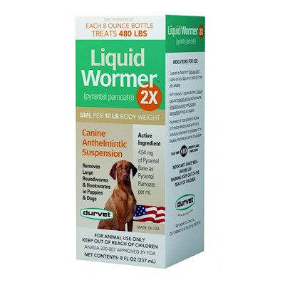 Liquid Wormer 2X -8 ounces