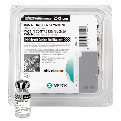 Nobivac Canine Flu Bivalent vaccine - Merck - 25 single doses