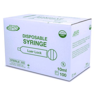 Box of 100 -10 ml Syringes-Luer Lock